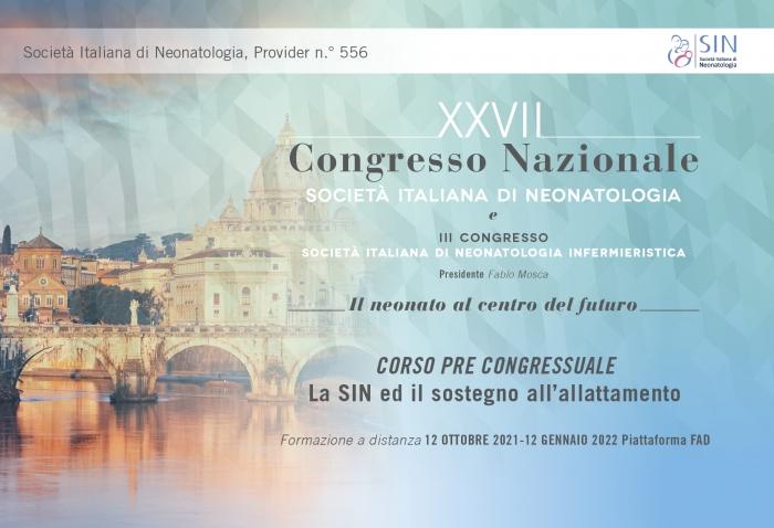 CORSO PRE CONGRESSUALE - La SIN ed il sostegno all'allattamento - Commissione Allattamento e Banche Del Latte Umano Donato - FAD ASINCRONA