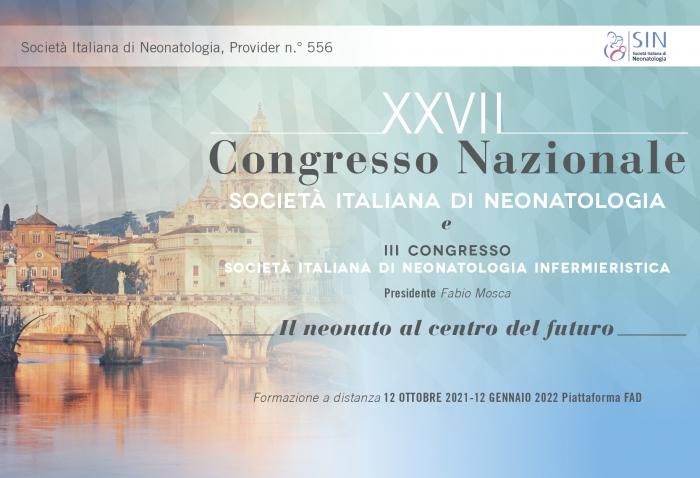FAD ASINCRONA - XXVII Congresso Nazionale Società Italiana di Neonatologia