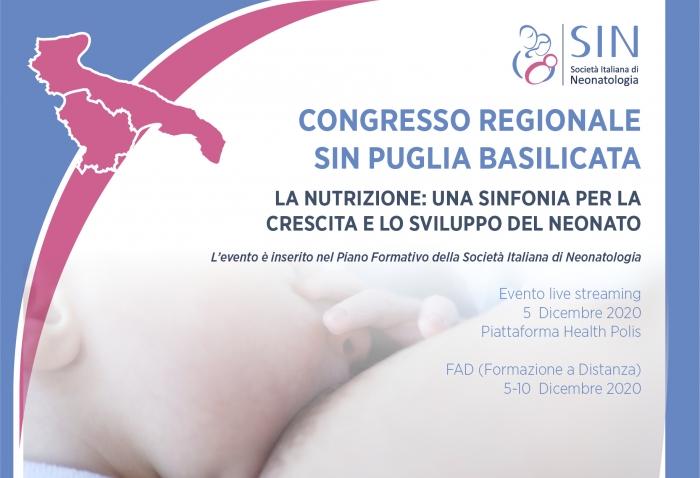 Congresso regionale  SIN Puglia Basilicata - LA NUTRIZIONE: UNA SINFONIA PER LA  CRESCITA E LO SVILUPPO DEL NEONATO