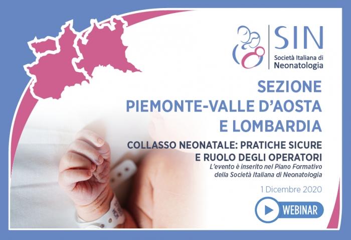 SEZIONE  PIEMONTE-VALLE D'AOSTA  E LOMBARDIA - Collasso neonatale: pratiche sicure  e ruolo degli operatori