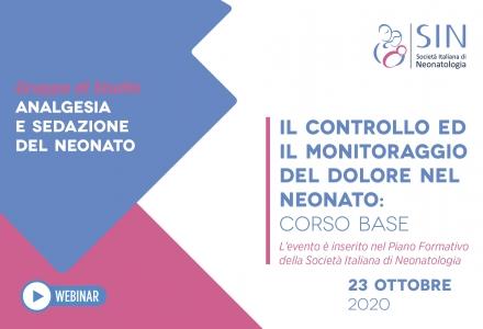 IL CONTROLLO ED IL MONITORAGGIO DEL DOLORE NEL NEONATO: CORSO BASE