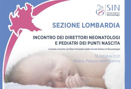 Sezione Lombardia - Incontro dei Direttori Neonatologi  e Pediatri dei punti nascita